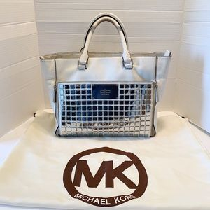 Michael Kors White Mirrored Handbag